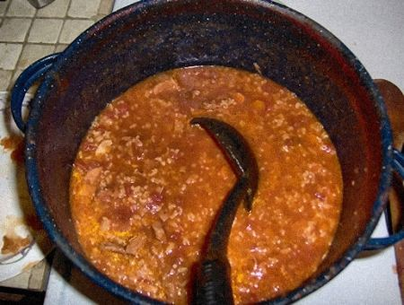 The soup, when all the cooking is done.